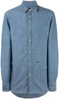 DSQUARED2 denim shirt - men - Cotton/Linen/Flax/Lyocell - 44