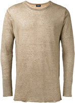 Diesel raw hem jumper - men - Linen/Flax/Nylon - M