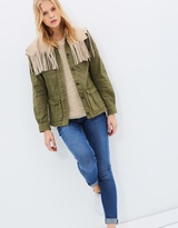 Maison Scotch Fringed Military Jacket