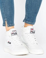 Fila Fx100 High Top Sneakers In White