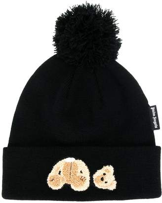 Palm Angels teddy bear bobble hat