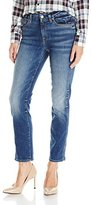 7 For All Mankind Women's the Ankle Straight Leg Jean in Abbey Road