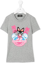 DSQUARED2 Surfing Beach T-shirt - kids - Cotton - 10 yrs