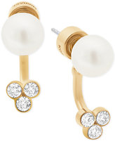 Michael Kors Gold-Tone Crystal Imitation Pearl Earring Jackets