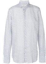 Xacus cutaway collar printed shirt