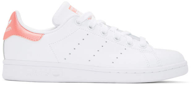 the latest 3ac8a 9fd4a White and Pink Stan Smith Sneakers