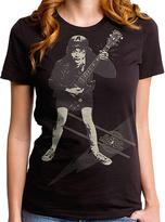 Goodie Two Sleeves Black AC/DC Voltage Tee - Women