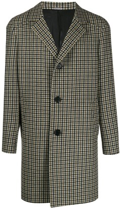 Lanvin Single-Breasted Check Coat