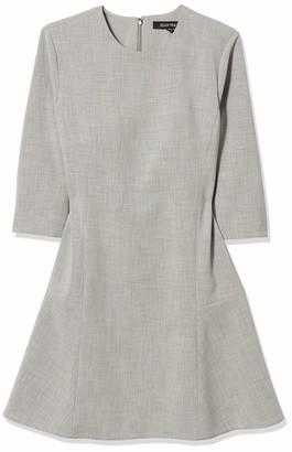 Ellen Tracy Women's Petite Size Elbow Sleeve Seamed Flounce Dress