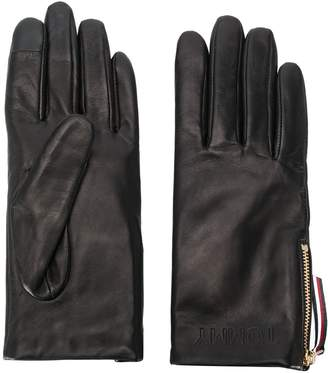 Tommy Hilfiger side zipped driving gloves