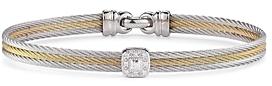 Alor Diamond Stacked Cable Bangle