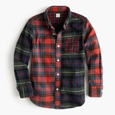 J.Crew Kids' oxford cotton shirt in mash-up plaid