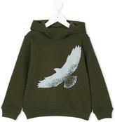 Il Gufo eagle print hoodie