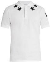 Givenchy Cuban-fit Star-appliqué Polo Shirt