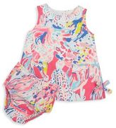 Lilly Pulitzer Baby's Two-Piece Printed Shift Dress & Bloomer Set