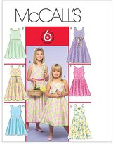 Mccall's Children's/Girls' Dresses In 2 Lengths - CCE (3 - 4 - 5 - 6)