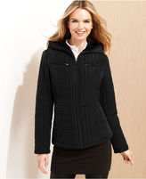 Esprit Jacket, Hooded Quilted Corduroy-Trim