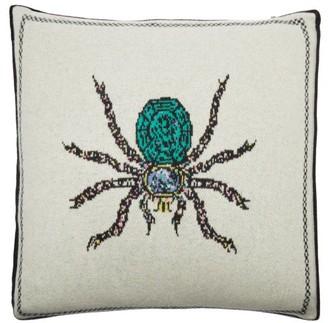 SAVED NY X Fee Greening Spider Cashmere Cushion - Ivory Multi