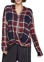 BCBGeneration Checkered Herringbone Button-Down Shirt