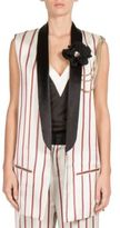 Lanvin Stripe Tuxedo Vest