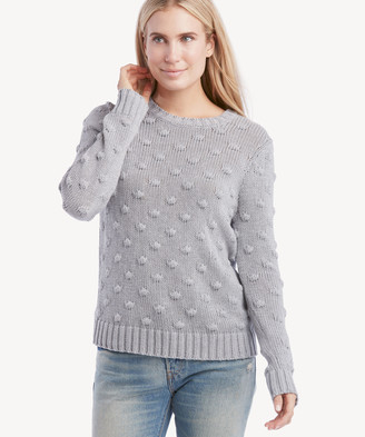 Vince Camuto Women's Popcorn Crewneck Sweater In Color: Silver Heather Size XS From Sole Society