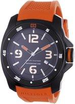 Tommy Hilfiger Men's 1790709 Orange Silicone Quartz Watch with Dial