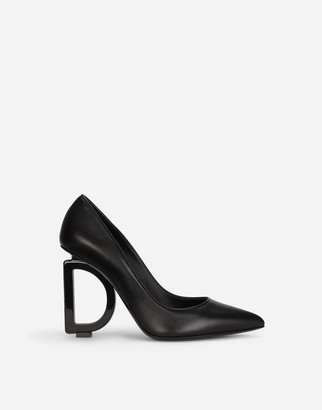 Dolce & Gabbana Nappa Leather Pumps With Heel