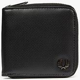 Fred Perry Pique Texture Zip Around Wallet, Black