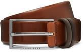 Hugo Boss - 3.5 Cm Brown Burnished-leather Belt