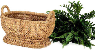 Mainly Baskets Sweater Weave Oval Compote Basket
