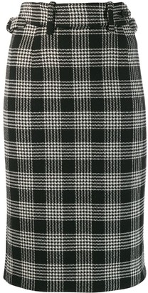 RED Valentino High Waisted Check Skirt