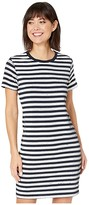 Lauren Ralph Lauren Sequined Short Sleeve Dress (Lauren Navy/Mascarpone Cream) Women's Clothing