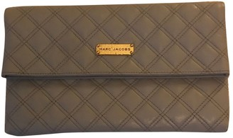 Marc Jacobs Single Grey Leather Clutch bags