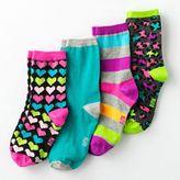 Pink Cookie 4-pk. patterned crew socks - girls