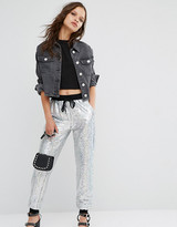 Glamorous Petite All Over Sequin Track Pant