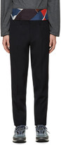 Kolor Navy Wool Trousers
