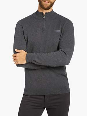 HUGO BOSS BOSS Barlo Quarter Zip Jumper