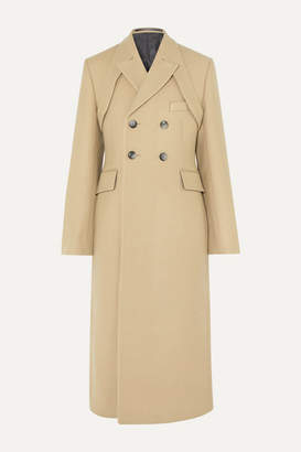 BEIGE Gmbh GmbH - Samarium Double-breasted Wool And Cotton-blend Coat