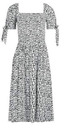 Dorothy Perkins Womens White Floral Print Dress
