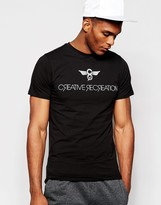 Creative Recreation T-shirt With Logo - Black