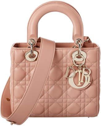 Christian Dior Lady Quilted Leather Shoulder Bag