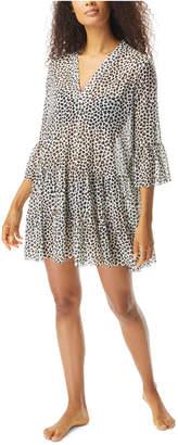 CoCo Reef Leopard Print Swim Cover-Up Dress Women Swimsuit