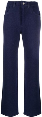 Barrie Knitted Flared Trousers