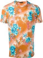Etro floral print T-shirt - men - Linen/Flax - S