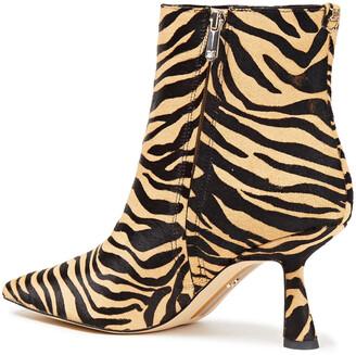 Sam Edelman Samantha Tiger-print Calf-hair Ankle Boots