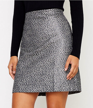 LOFT Shimmer Jacquard Shift Skirt