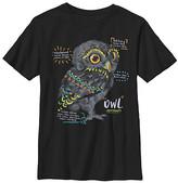 Fifth Sun Boys' Tee Shirts BLACK - Black Owl Facts Crewneck Tee - Boys