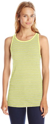 Three Dots Women's Heathered Stripe Tank
