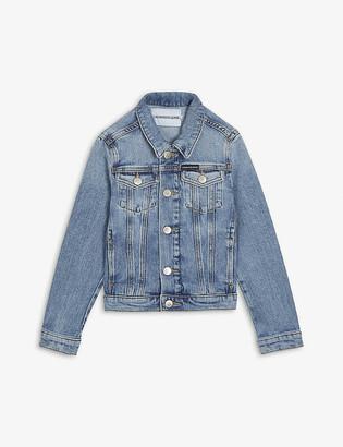 Calvin Klein Jeans Logo-embroidered cotton denim jacket 4-16 years