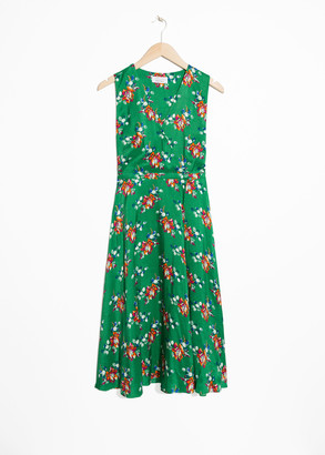 And other stories Printed Midi Dress